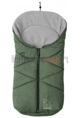 Конверт heitmann felle winter флис Green Melange зеленый меланж 7963WG