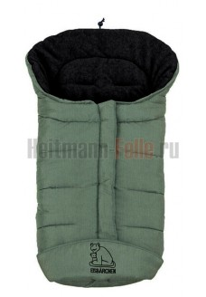 Конверт heitmann felle winter флис Green Melange зеленый меланж (темный флис) 7965WG