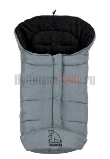 Конверт heitmann felle winter флис Grey Melange светло-серый меланж (темный флис) 7965SG